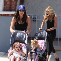 Tamara & Petra Ecclestone Lunch With Their Little Ladies in LA!