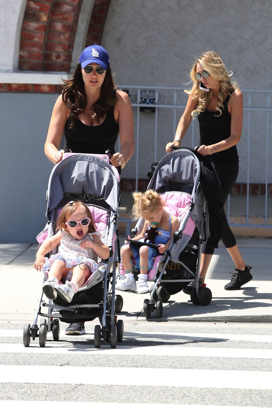 Petra Ecclestone Stunt and Tamara Ecclestone out in LA with their daughters Lavinia and Sophia