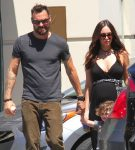 Pregnant Megan Fox and Brian Austin Green at the market
