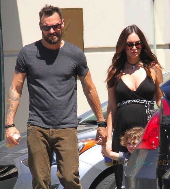 Pregnant Megan Fox and Brian Austin Green at the market