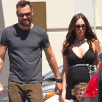 Megan Fox and Brian Austin Green Shop At The Farmer's Market With Their Boys!