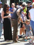 Pregnant Megan Fox and Brian Austin Green at the market with son Noah