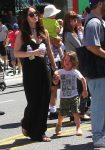 Pregnant Megan Fox at the market with son Bodhi Green