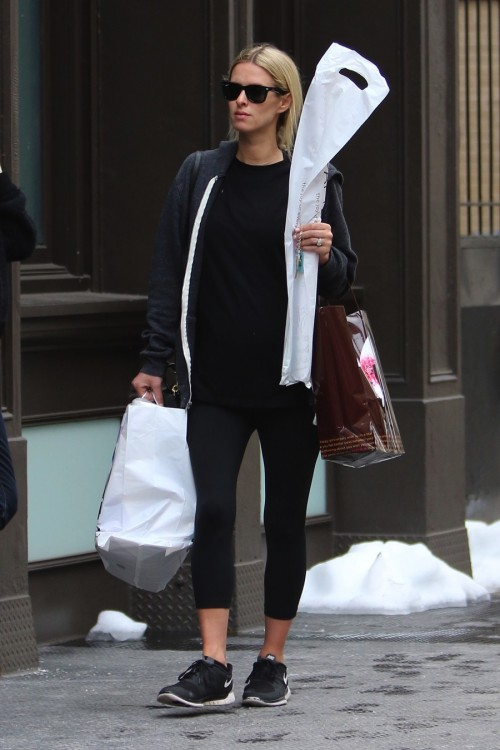 Pregnant Nicky Hilton keeps it comfy running errands in Soho