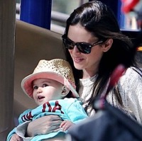 Rachel Bilson Plays At The Park With Her Daughter