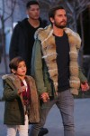Scott Disick out shopping in Vail Colorado with son Mason