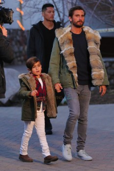 Scott Disick shops in Vail Colorado with son Mason