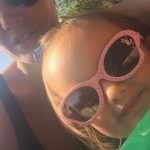 Tamara Ecclestone and sophia rutland on the train at Griffith Park LA