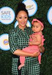 Tamera Mowry with daughter Ariah Housely at Safe Kids event