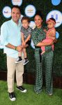 Tamera Mowry with husband Adam Housely and kids Aden and Ariah at the Safe Kids Event