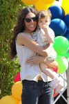 Terri Seymour and baby Coco stop by Smashbox for Safe Kids Day