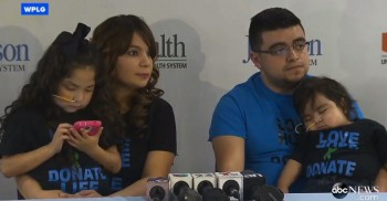 The Cerda Family during a press conference