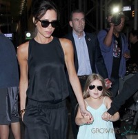 Victoria Beckham Arrives At LAX With Her Kids
