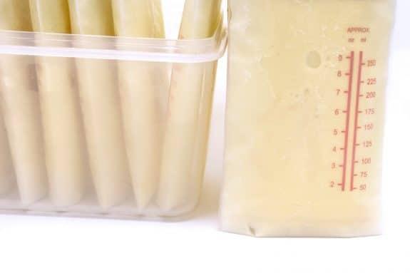 frozen breastmilk