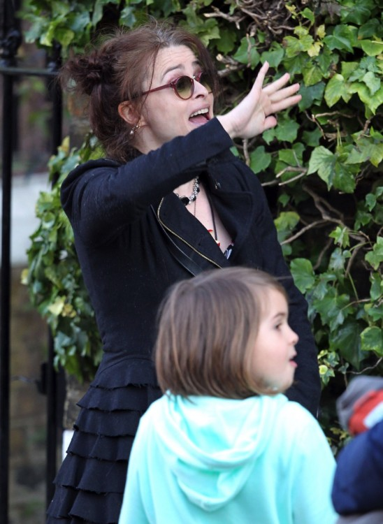 helena bonham carter on the set of Five Seconds Of Silence
