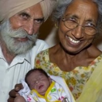 Woman In Her 70s, Gives Birth To Baby Boy!