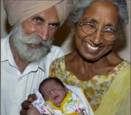 70 year old Daljinder Kaur gives birth