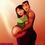 A pregnant Moulan