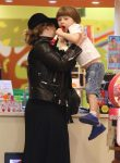 Adele shops for toys with her son Angelo Konecki in Spain
