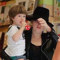 Adele Shops For Toys In Spain With Her Son Angelo