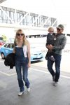 Anna Faris, Chris Pratt and Son Jack Depart LAX Airport