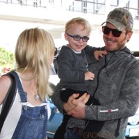 Anna Faris and Chris Pratt Depart LAX With Their Son Jack!