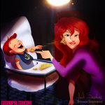 Ariel imagined as a mom