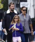 Ben Affleck and Jennifer Garner out in London with their kids Seraphina, Violet & Sam
