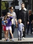 Ben Affleck and Jennifer Garner out in London with their kids Seraphina, Violet & Sam