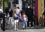 Ben Affleck and Jennifer Garner out in London with their kids Seraphina, Violet and Sam