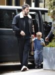 Ben Affleck and son Sam out in London