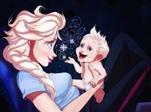 Elsa Imagined as a mom f