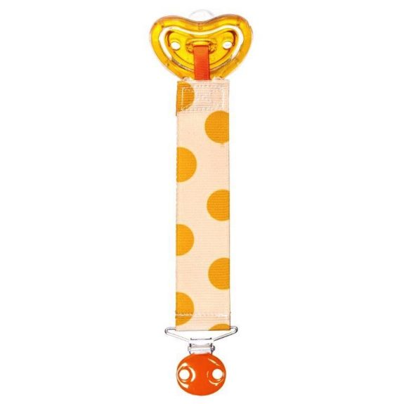 Image of recalled m Designer pacifier and clip