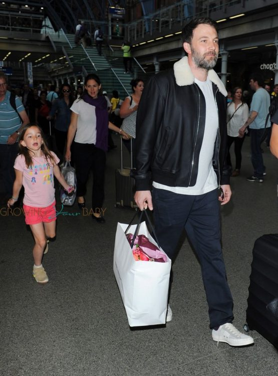Jennifer Garner And Ben Affleck Arrive In London With Their Kids
