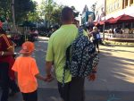 Ju-Ju-Be Be Right Back BackPack ONYX collection - dad wearing it