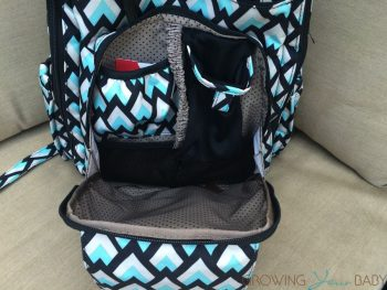 Ju-Ju-Be Be Right Back BackPack ONYX collection - front pocket