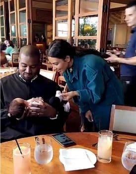Kim Kardashian and Kanye West Meet Luna Legend