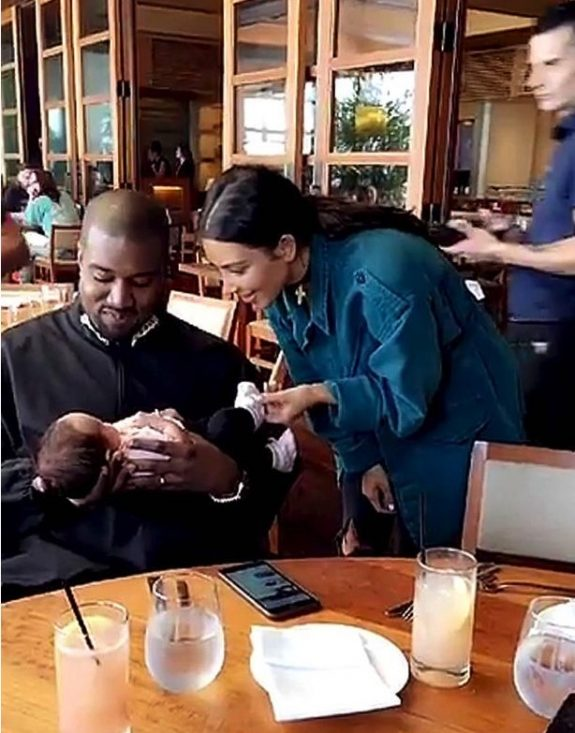 Kim Kardashian and Kanye West Meet Luna Legend