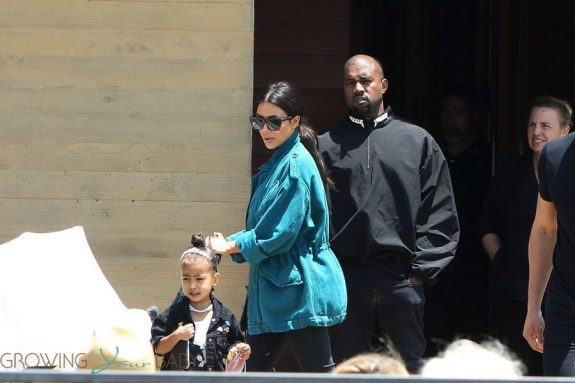 Kim Kardashian and Kanye West out with kids Saint and North in LA