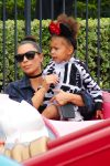 Kim Kardashian and North West at Disneyland