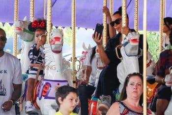 Kim Kardashian and North West at Disneyland