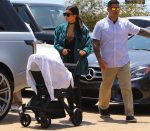Kim Kardashian and son Saint West out in LA