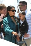 Kim kardashian with daughter North West in LA