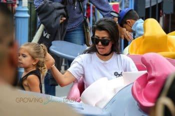 Kourtney Kardashian rides Dumbo with daughter Penelope Disick