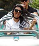 Kourtney Kardashian rides a roller coaster with son Mason at Disneyland