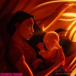 Pocahontas imagined as a mom
