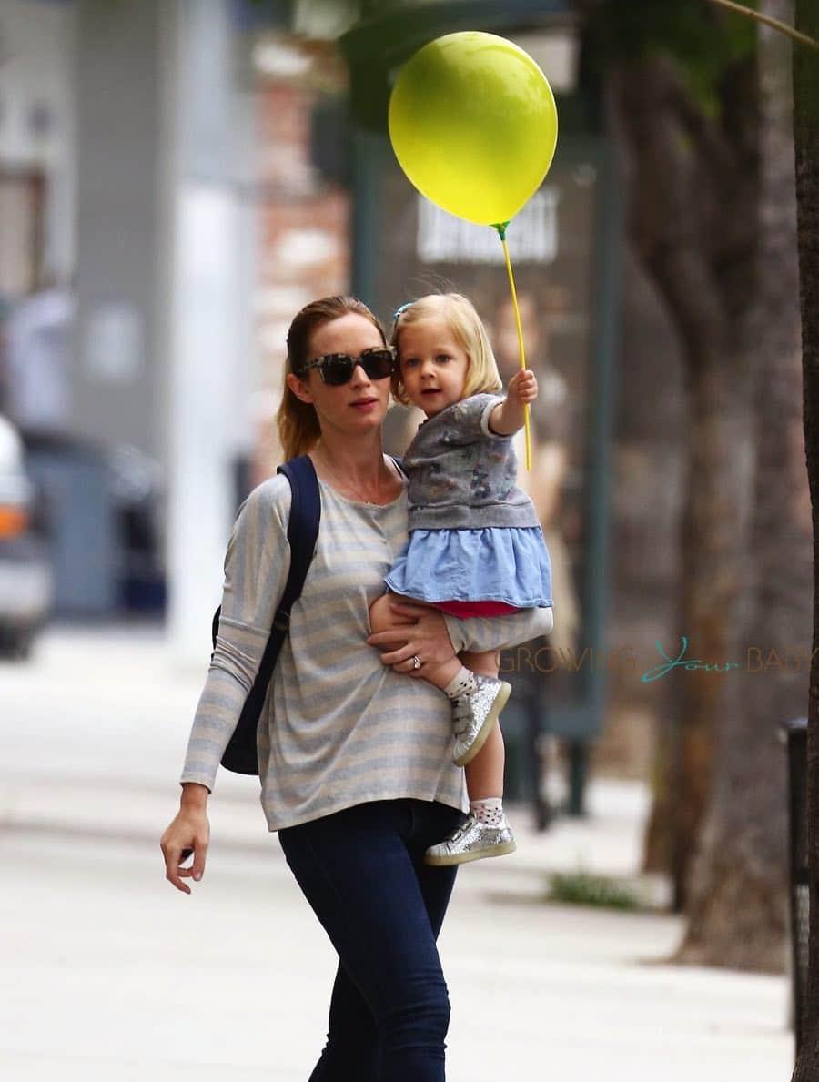Emily Blunt Runs Errands With Daughter Hazel in LA ...