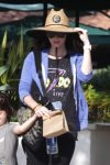 Pregnant Megan Fox at the park with kids Noah Green