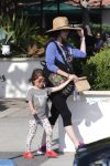 Pregnant Megan Fox at the park with son Noah Green