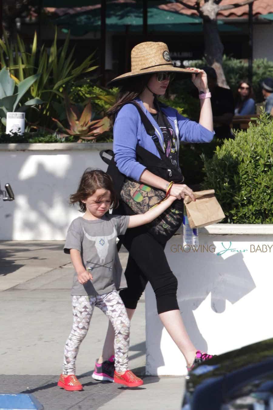 Pregnant Megan Fox at the park with son Noah Green ...